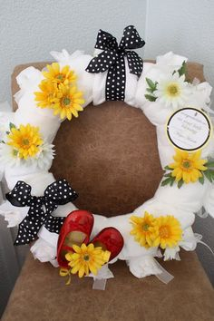 diaper wreath - SO cute!