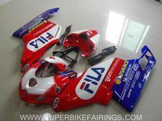 2005-2006 Ducati 749/999 Red & Blue Fila Fairings