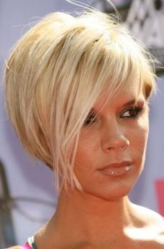 I am addicted to Posh Spice and I want more than anything to cut my hair like this, bleach it, and have Mike transforms his body into that of David Beckham...