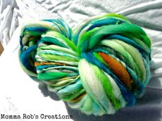 165 Yards Handspun Thick and Thin Superwash by MommaRobsCreations, $35.00