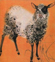 "Illustration by Mirko Hanák (b.1921), from the German children's books ""Bilderzoo"", by Alfred Könner."