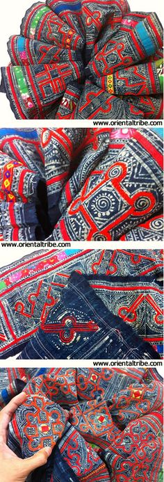 Embroidered tribal cloth of Hmong people