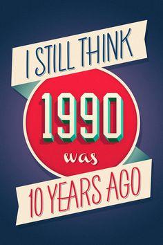 I still think 1990 was 10 years ago. (By Germán Ventriglia, via Behance)