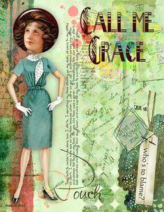 Art journaling - Call me Grace