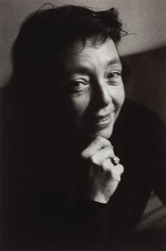 Marguerite Duras, French writer and film director,.Paris, 1965. Giséle Freund.