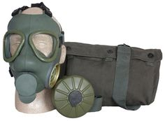 Serbian Army Military issue Gas Mask Comes with OD green case and a cleaning cloth. These are surplus, the ones we inspected were still sealed in a factory plastic bag the one you receive may or may n Emergency Preparedness Kit, Survival Prepping, Survival Skills, Survival Items, Survival Gear, Camping Survival, Camping Gear, Israeli Gas Mask, Army Navy Store