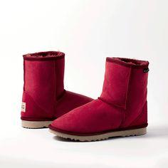Ruby Short UGG Boots  #short #uggboots #australianmade #ugg #uggs #sheepskin #ruby #red