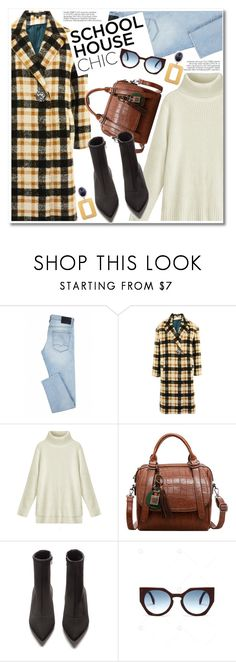 """Work Hard, Play Hard: Finals Season"" by paculi ❤ liked on Polyvore featuring Topshop, StreetStyle, casual, plaid and finals"