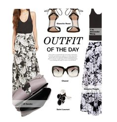 """Outfit Of The Day:Floral Maxi"" by tracey-mason ❤ liked on Polyvore featuring T By Alexander Wang, Gianvito Rossi, Yves Saint Laurent, Jil Sander and Chanel"