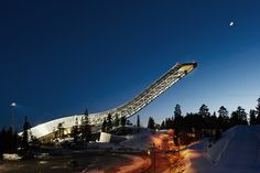 Spend the night above the snow at Holmenkollen, the home of Norwegian ski jumping in Oslo, Norway.
