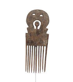 Ashanti Hand Made Ethnic Comb #1627 | Combs | Artifacts — Deco Art Africa - Decorative African Art - Ethnic Tribal Art - Art Deco