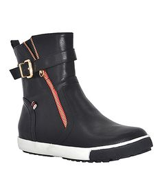 Look at this Jacobies Footwear Black Vaness Hi-Top Sneaker on #zulily today!