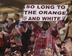 """""""So Long to the Orange and the White"""""""