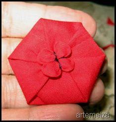 artemelza - fuxico hexagonal tutorial