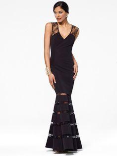 Black Slash-Lace Gown
