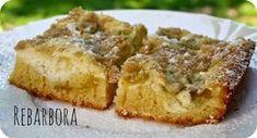 Rebarborový koláč s tvarohem a skořicovou drobenkou {na plech} - DOBROTY DULINKA