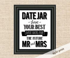 Date Night Advice Jar Sign  8x10 Sign  Give Your by konadesigns, $5.00