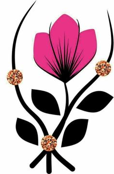 Diseños uñas Flower Nail Art, My Flower, Feather Drawing, Rock Flowers, Scripture Art, Easy Nail Art, Craft Patterns, Fabric Painting, Animal Drawings