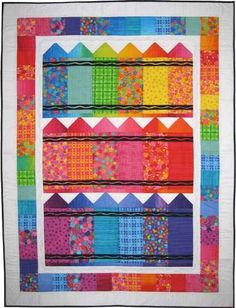 The Virginia Quilter - Quilting Patterns - Bits n Pieces Patterns - Crayons Quilt Pattern