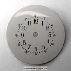 4 St. Emaille Zifferblätter für Taschenuhren, Zifferblatt, pocket Cooking Timer, Clock, Watches, Enamel, Watch, Wristwatches, Clocks, Clocks