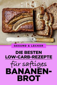 Banana Bread: The Best Low Carb Recipes ELLE Bananenbrot: die besten Low-Carb-Rezepte Law Carb, Smoothie Recipes, Smoothies, Healthy Snacks, Healthy Recipes, Best Low Carb Recipes, Healthy Banana Bread, The Best, Dessert Recipes