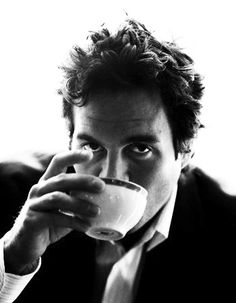 Mark Ruffalo - not sure if he's drinking tea or coffee, but he is such a hunk I had to pin it