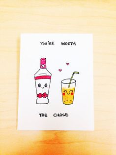 Funny love Card cute anniversary card You're by LoveNCreativity