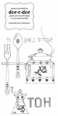 "doe-c-doe: thursday = tea embroidery pattern - ""some like it hot"" ""some like it cold"""