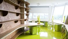 chartreuse office space