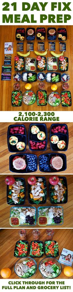 Meal Prep for the 21 Day Fix 2,100-2,300 Calorie Level -- Click through for a complete guide to healthy eating all week long! // meal prep monday // nutrition // clean eating // weight loss // 21 Day Fix approved // beachbody // beachbody blog 2 week diet link