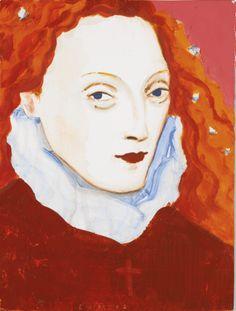 elizabeth peyton ELIZABETH I red hair oil painting
