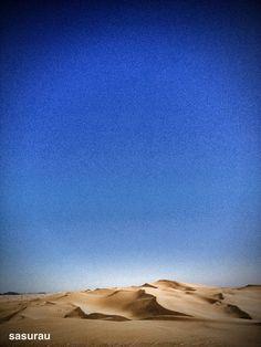 砂の音が聴こえる。
