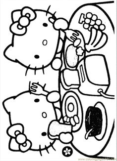 Hello Kitty Printable Coloring Pages | ... Pages Kitty18 (Cartoons > Hello Kitty) - free printable coloring page