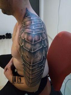 #Armor #tattoo in progress #halfsleeve