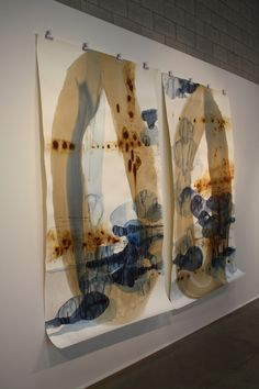 "Beverly Arts Center, Chicago, Ana Zanic ""Origin I""and Origin II"", watercolor on Arches"