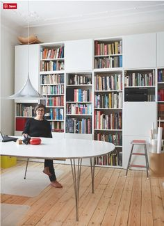 The Best of BESTA: Design Inspiration for IKEA's Most Versatile Unit - - IKEA's BESTA range is so minimal and versatile, it's almost impossible not to put your own stylish spin on it. Check out how these homes did just that. Ikea Living Room, Living Room Storage, Living Room Furniture, Living Rooms, Ikea Furniture, Furniture Design, Steel Furniture, Furniture Online, Furniture Stores