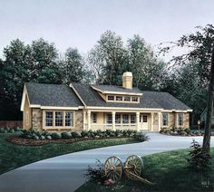Bungalow Country Ranch Elevation of Plan 86985