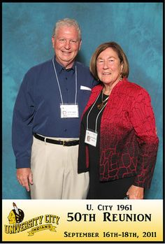 Stuart and Justina, but by clicking on the picture you should be able to see 209 pics of U. City '61 50th reunion.