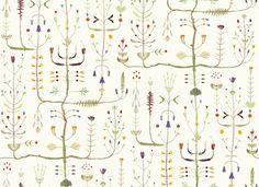 Sugarplum Tree - Off White - Tapetit / tapetti - Photowall