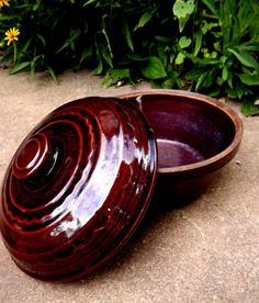 Large+Marcrest+Stoneware+Dutch+Oven+Daisy+Dot+by+ForsythiaHill,+$26.00