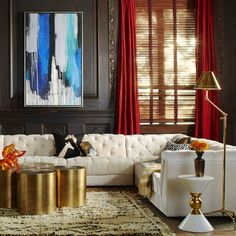 Glam sectional sofa from Jonathan Adler