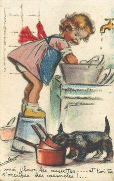 Moi j'lave les assiettes.... et toi tu t'occupes des casseroles !...                                                                                                                                                     Plus
