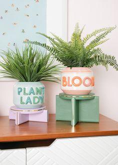 The Prettiest Plant Stand DIY / via Oh Joy!