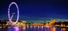 I hate heights, and therefore dislike ferris wheels, but this is on my bucket list. Ride the London Eye, at night.