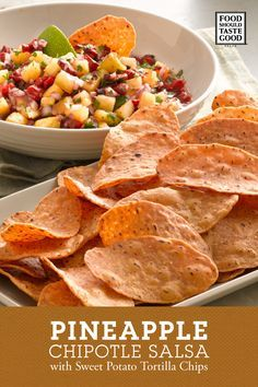 A versatile tropical (and smokey) salsa that pairs great with Food Should Taste Good™ Sweet Potato Tortilla chips.