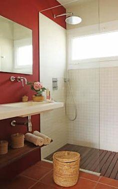 Casas de Fotos de casas de banho pequenas... https://www.homify.pt/livros_de_ideias/2532349/37-fotografias-de-casas-de-banho-pequenas-mas-lindasbanho  por Marta Sellarès - Interiorista