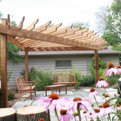 Triangular pergola |