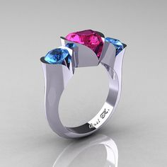 Nature Classic 10K White Gold 2.0 Ct Heart Pink by artmasters, $599.00