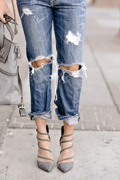 The perfect destroyed denim