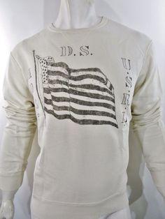 Denim & Supply Ralph Lauren flag print crewneck pullover sweatshirt size xl NEW #DenimSupplyRalphLauren #SweatshirtCrew